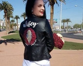 Custom painted wedding jacket