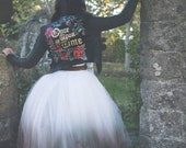 Handpainted fairytale wedding jacket