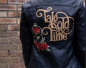 Beauty and the Beast inspired custom painted jacket