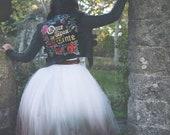 Handpainted fairytale wedding jacket