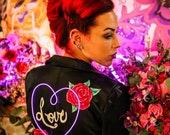 Custom painted neon light up jackets, light up wedding jacket for brides