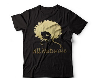 WOMEN'S ALL NATURALE 100% Cotton Gold Graphic Tee
