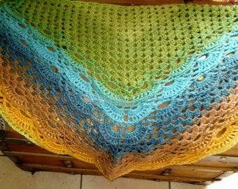 Small shawl, full of PEP crochet handmade scarf
