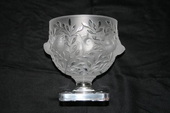 Lalique Elisabeth Vase Birds In Flight Lalique Crystal Bowl Etsy