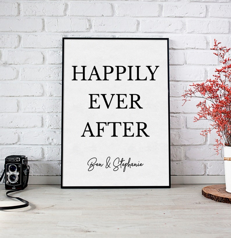 Printable Digital Download personalize /& print right away after purchase Printable Happily Ever After Couples Sign