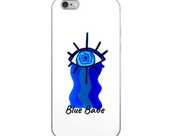 Blue and White iPhone Case, Blue Babe iPhone Case,