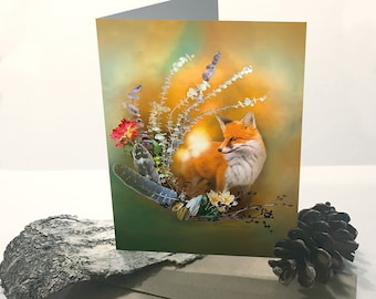 Greeting Card - Red Fox Card - Nature Themed Card - Fox Greeting Card - Any Occasion Card