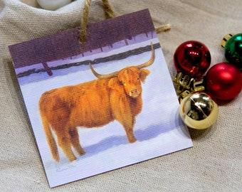 Highland Cattle Ornament - Highland Cow Ornament - Red Cow - Highland Cow - Christmas Ornament - Holiday Ornament - Tree Decor