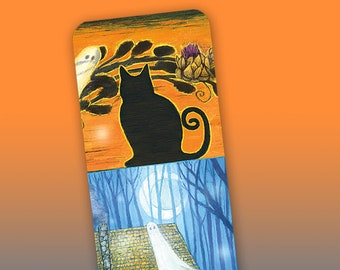 Haunted Mill Black Cat Bookmark