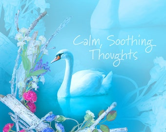 Swan Calming Art, Phone wallpaper, Cell phone background, Phone lock screen, Cell phone wallpaper, Phone background