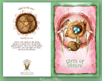Ostara - Low Holiday - Spring Equinox - Sabbat Card