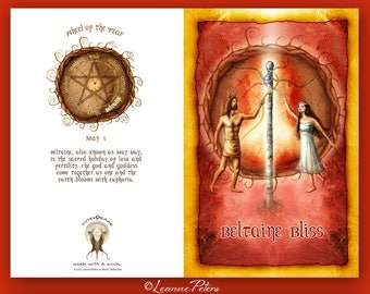 Beltaine Greeting Card - Beltane Greeting Card - Beltaine - Beltane - High Holiday - Sabbat Card