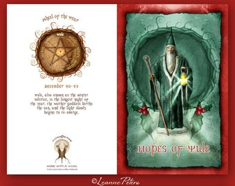 Yule - Low Holiday - Winter Solstice - Sabbat Card
