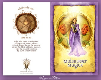Midsummer - Litha - Low Holiday - Summer Solstice - Sabbat Card