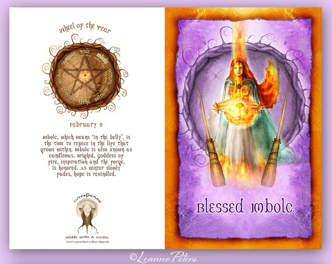 Featured listing image: Imbolc - High Holiday - Sabbat Card