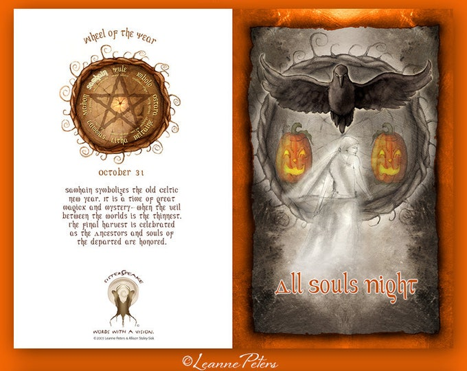 Featured listing image: Samhain - Halloween - High Holiday - Sabbat Card