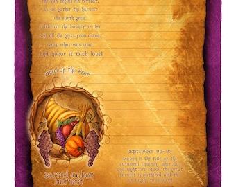 Mabon Digital Stationery, Sabbat Stationery, Low Holiday Art, Fall Equinox Art
