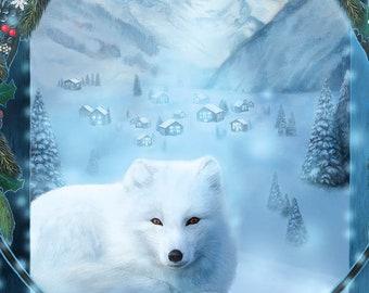 Yule Postcard, Christmas Postcard, Winter Solstice Art Card, Holiday Postcard