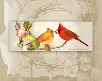 Cardinal Bookmark - Cardinal Pair Bookmark - Bookmarker - Bookmarking - Bookmarks for Books - Book Mark - Reading Bookmark
