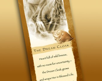 Dream Cloak Bookmark - Bookmarker - Bookmarking - Bookmarks for Books - Book Mark - Reading Bookmark - Seashells - Dreams - Trees