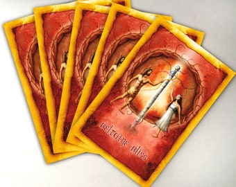 Beltaine Card Pack of 5 Greeting Cards, Beltane Cards, High Holiday Cards, Sabbat Cards