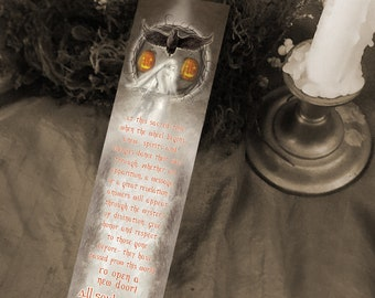 Samhain Bookmark - All Souls Night Bookmark - Bookmarker - Bookmarking - Bookmarks for Books - Book Mark - Reading Bookmark