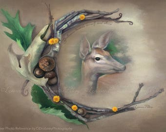 Deer Spirit by Leanne Peters - Spirit Animal Art - Deer Art