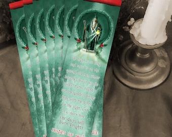 10 Yule Bookmarks - Winter Solstice Art - Seasonal Bookmark - Bookmarker - Bookmarking - Bookmarks for Books - Book Mark - Reading Bookmark