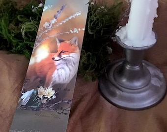 Red Fox Bookmark - Bookmarker - Bookmarking - Bookmarks for Books - Book Mark - Reading Bookmark