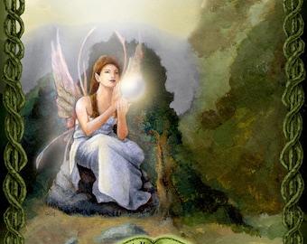Faery Magick Print, Fairy Magic Art Print, Woodland Magic Print, Pagan Print