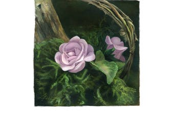 Digital Download Roses Art - Country Rose by Leanne Peters
