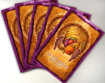 Mabon Card Pack of 5 Greeting Cards, Low Holiday Cards, Sabbat Cards, Fall Equinox Card