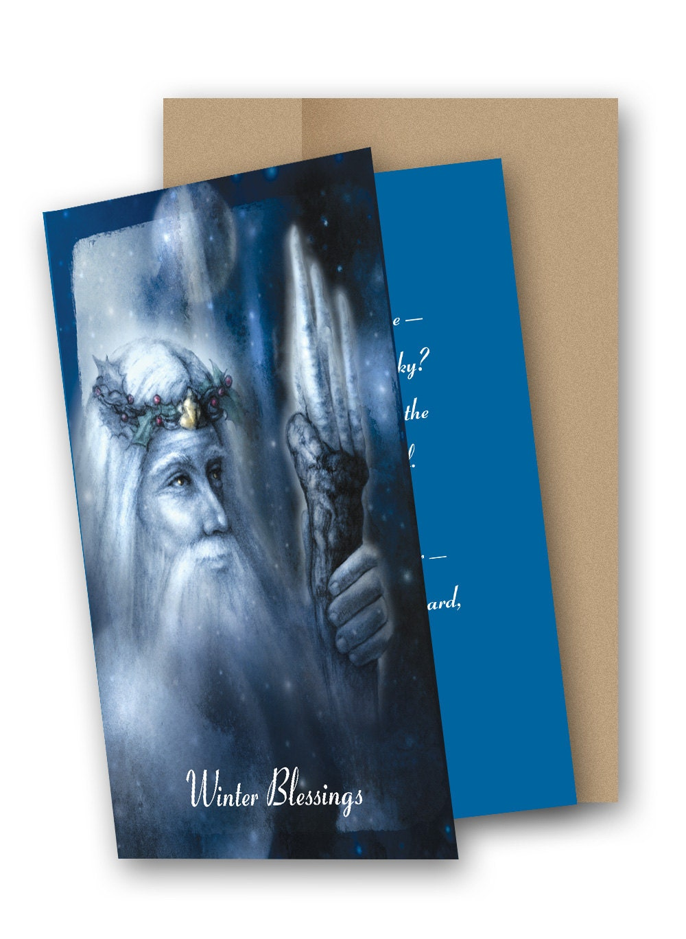 Light Of Yule 5 X 7 Greeting Card With Envelope