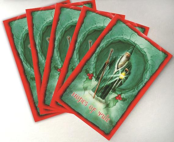 Last Few Yule Christmas Pagan greetings card Winter Wonder Back in stock