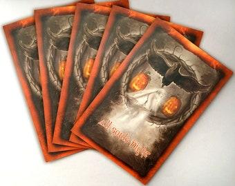 Samhain Card 5-Pack, Halloween Cards, High Holiday Cards, Sabbat Cards