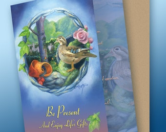 Be Present Greeting Card with Envelope