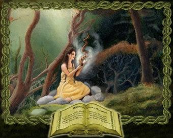Woodland Magick Print, Goddess Magic Art Print, Woodland Magic Print, Pagan Print