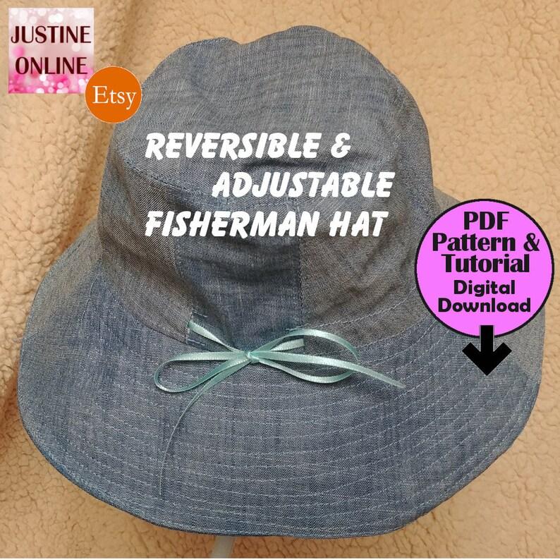 403f4988 8cm Brim Adjustable Reversible Fisherman Hat. 5 Sizes Kids | Etsy