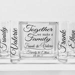 Sand Ceremony Set - Family Sand Ceremony - Blended Family Sand Ceremony - Together We Make A Family Personalized Names