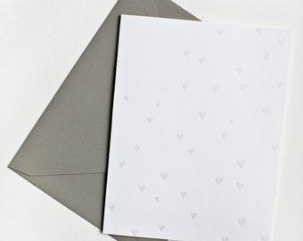 Tiny Hearts Notecard