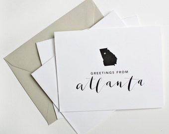 Greetings from Atlanta Notecard