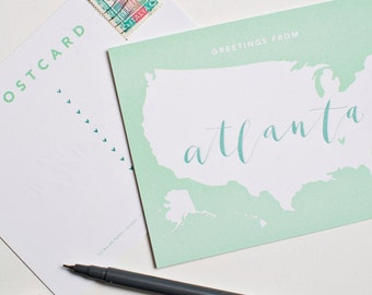 Greetings from Atlanta Postcard | Set of 5