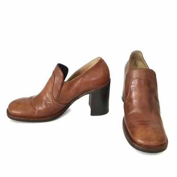 Mariagrazia Ripari Vintage 90's Brown Leather Chun