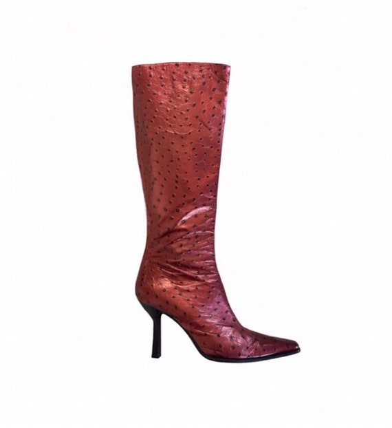 ab892931297d2 Vintage 90 s MIMA Italian Leather Ostrich Embossed