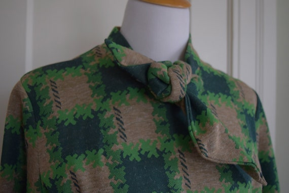 Vintage Green Wool Dress