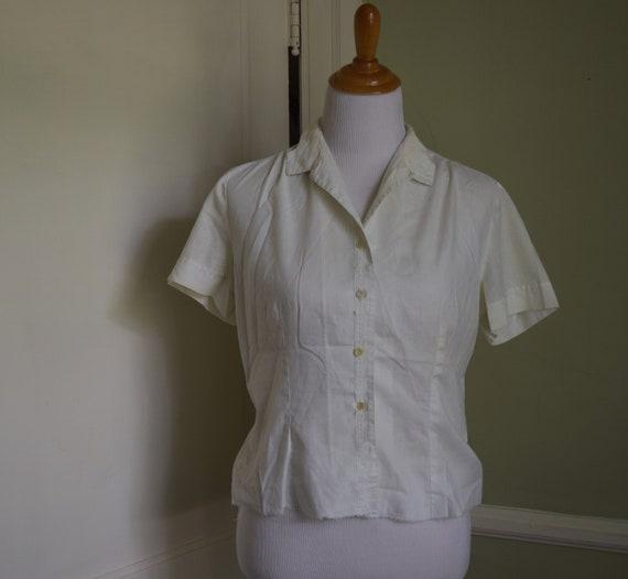 60's MacShore Lace Collar Blouse