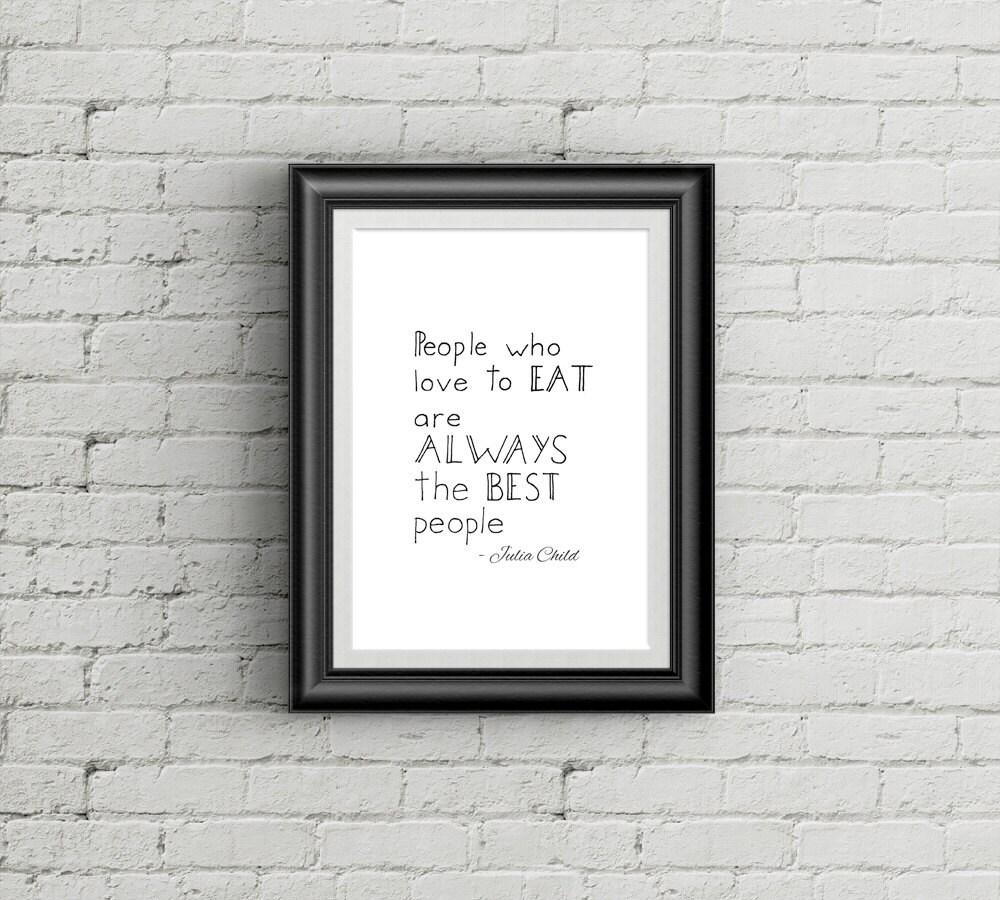 affiche imprimable pour cuisine en anglais citation julia   etsy