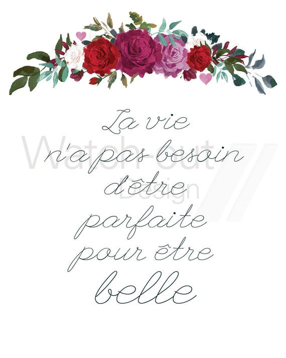 French Positive Quote Print Positive And Motivational Etsy