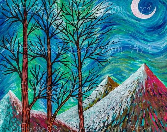 11x14 Poster Board - Three Trees