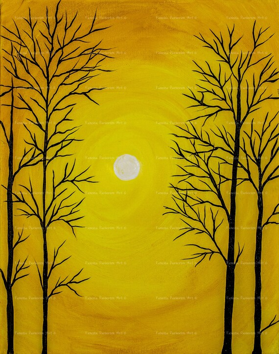 5x7 Print - Sun Trees